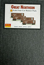 N MTL GREAT NORTHERN boxcar 4-car runner pack -- NEW IN BOX