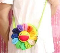 New takashi murakami Flower Rainbow Plush Bag Handbag Shoulder Bag