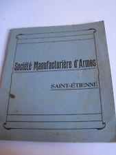 Catalogue SOCIÉTÉ MANUFACTURIÈRE D'ARMES - Saint-Etienne - CHASSE