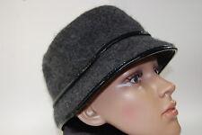 Vintage August Black Ladies Wool Bucket Style Hat with Bow