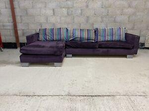 Designers Guild Purple Right Hand Corner Sofa