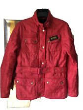 Ladies Barbour Jacket Size 10 Red