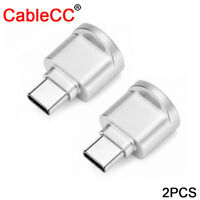 2pcs USB 2.0 Type-C USB-C to Micro SD SDXC TF Card Reader Adapter for Phone