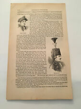 K30) Duc de Lauzun French Army Yorktown American Revolution 1860 Engraving