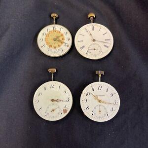 Konvolut Taschenuhr Uhrwerk Antik Open Face Lepine Herrenuhr Vintage Uhr