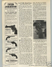 1966 PAPER AD Iver Johnson Revolvers Model 67 Viking 50 Sidewinder 55 S-A 57A