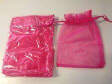 12pc CERISE PINK Organza Silk Bag 12.5cmx17cm FREE POSTAGE