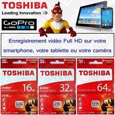 Carte mémoire TOSHIBA EXCERIA Full HD Micro SDHC SDXC UHS-I 16 32 64 Go Gb Giga