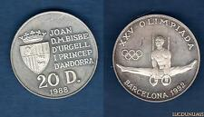 Andorre - 20 Diners 1988 Jeux Olympiques Barcelone 1992 - Andorra