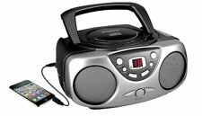 Sylvania Portable CD Radio Boombox Black - Black (SRCD243M)™