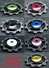 J&L Rear Derailleur Ceramic Carbon Pulley/Jockey Fit Shimano,SRAM&Campagnolo-5g