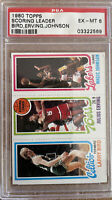 1980 Topps Basketball Larry Bird Julius Erving Magic Johnson ROOKIE RC PSA 6