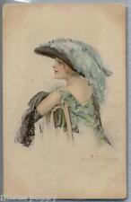 Glamour Girl Donnina Moda Cappello Belle Epoque PC Circa 1910