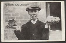 Postcard Hartlepool in County Durham the Bombardment WW1 pieces of Bomb shell