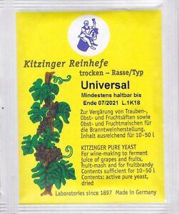 KITZINGER Arauner WEINHEFE TROCKENHEFE  - universal -  5 g für 10-50l