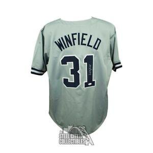 Dave Winfield Autographed New York Yankees Custom Gray Baseball Jersey - JSA COA