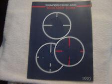 THOMPSON CENTER ARMS 1990 SCOPE catalog