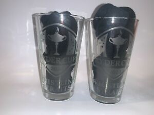 2020 2021 RYDER CUP WHISTLING STRAITS USA EUROPE ETCHED 2 16 oz PINT GLASSES NEW