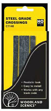 Woodland Scenics C1148 - 2 Sets Grade Crossings Steel Plate HO/00 Gauge 1St Clas