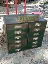 1930S W.B.JONES SPRING CO Hardware Store Display Drawer Countertop Metal Cabinet