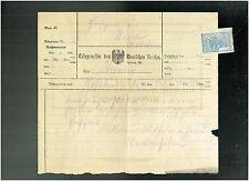 TELEGRAMM 1922 - TELEGRAPHIE DES DEUTSCHEN REICHS / AUS WÖHRDEN (?)