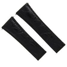 Daytona 116519 116520 116523 Black Regular Croc Leather Watch Band For Rolex