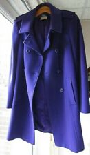 PLANET Size UK 14 / 40  Purple Double Breasted military style Wool Blend Coat