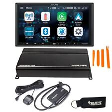 Alpine iLX-W650 with CarPlay and Android Auto KTA-450 Power Pack XM Tuner