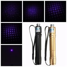 Purple Light Adjustable Kaleidoscopic & Single Beam Pen 18650 Battery Aerometal