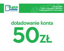 DOŁADOWANIE DOLADOWANIE - LYCAMOBILE 50 PLN [Szybka realizacja/PayPal/Przelew]