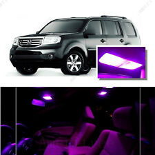 For Honda Pilot 09-16 Pink LED Interior Kit + Pink License Light LED
