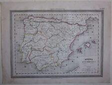 1864 SPAGNA Sotto l'Impero Romano Guigoni Doyen Hispania romana España Portugal