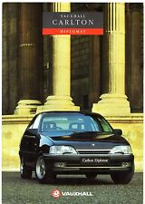 Vauxhall Carlton Diplomat 1991-92 UK Market Foldout Sales Brochure 2.0i 2.6i
