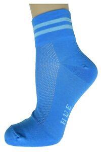 HUE Perforated Cotton Body Socks Capri Blue NWT