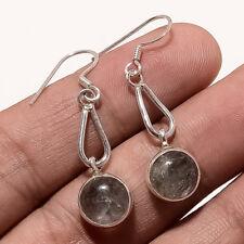 Natural Srilanka Black Rutile Quartz Earring Sterlig Silver Thanksgiving Jewelry
