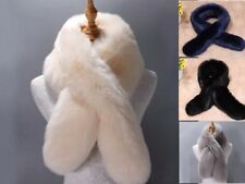 Winter Women Ladies Faux Fur Scarf Neck Long Warmer Wrap Collar Shawl