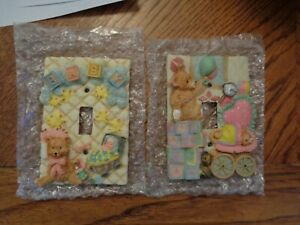 Adorable 3-D Baby Nursery light switch plate cover NEW Choose your design