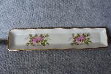 Vintage Porcelaine d'art Limoges France Olive Relish Dish Tray Pink Rose Euc