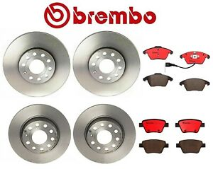 For Audi A3 VW Beetle Golf Front Rear Brake Kit Disc Rotors Ceramic Pads Brembo