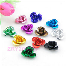 150Pcs Aluminum Rose Flower Spacer Beads 12mm,14Colors-1 Or Mixed R0170