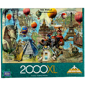 The World Bathy Orographical 2000 Pc Mega Puzzle Educational History Geography
