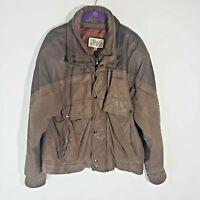 Vintage Retro Pelle Studio Women's Brown Leather Motorcycle Bomber Jacket Large