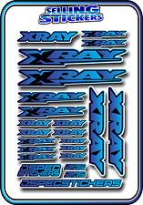 XRAY RC CAR BUGGY STICKER 1/10 1/8 NT1 T4 XB8 RX8 NITRO DRIFT ELECTRIC BLU/BLU B