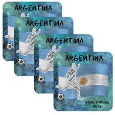 Set of 4 Personalized Custom Coaster Futbol Soccer World Cup Teams Football