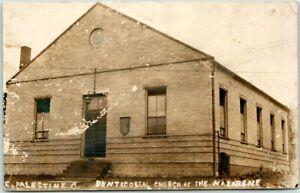 1916 East Palestine, Ohio RPPC Photo Postcard PENTECOSTAL CHURCH OF THE NAZARENE