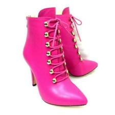 Women Pointy Toe Stiletto High Heel Casual Back Zipper Ankle Boots Party Shoes L