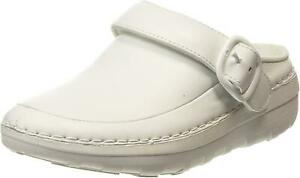 New Womens Fitflop Gogh Pro Superlight Leather Moccasins Clogs UK 3-9 White