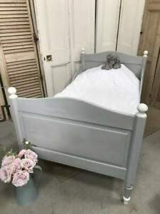 Vintage French Painted Single Bed with base.