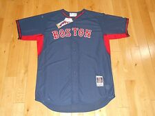 New Blue BOSTON RED SOX Authentic Collection MLB Batting Practice Team JERSEY 48