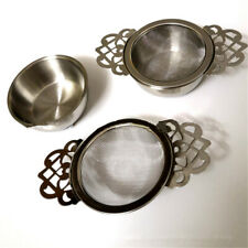 Stainless Steel Fine Mesh Tea Strainer Filter Empress Infuser with Drip Tray
